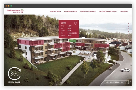 Az apartman választás az épület homlokzatról kezdeményezhető