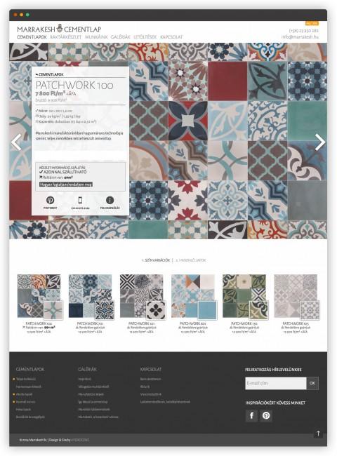 Marrakesh termék oldal